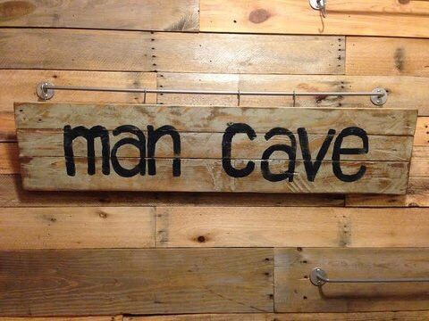 Man Cave Signs At Hobby Lobby : Man cave pallet sign men and black letter