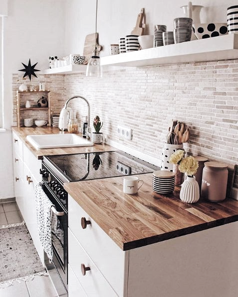 A white or black stove top cover in this quaint kitchen would add more countersp...,  #Add #Black #countersp #Cover #Kitchen #LivingRoomFurniturered #Quaint #stove #Top #White