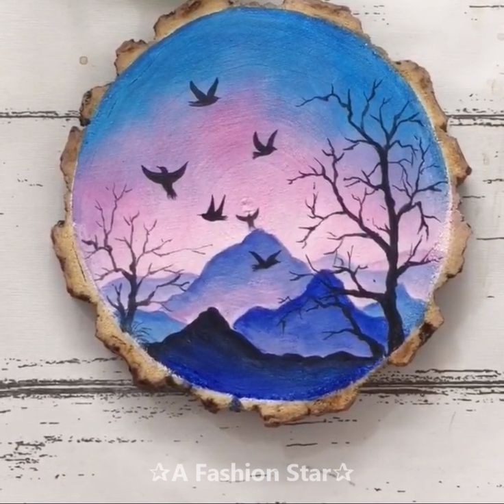 6 Amazing Wood Panel Art For Home Decor – Painting Ideas For Beginner