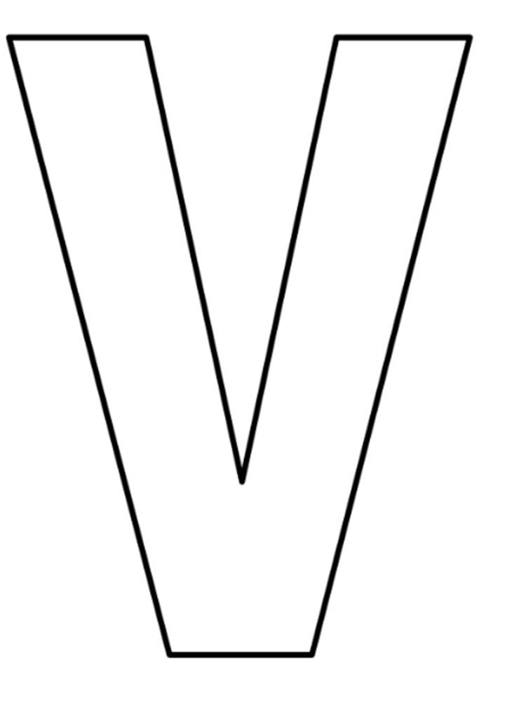 moldes-letras-v-730x1024.png 730×1.024 pixels   Letras   Pinterest ...
