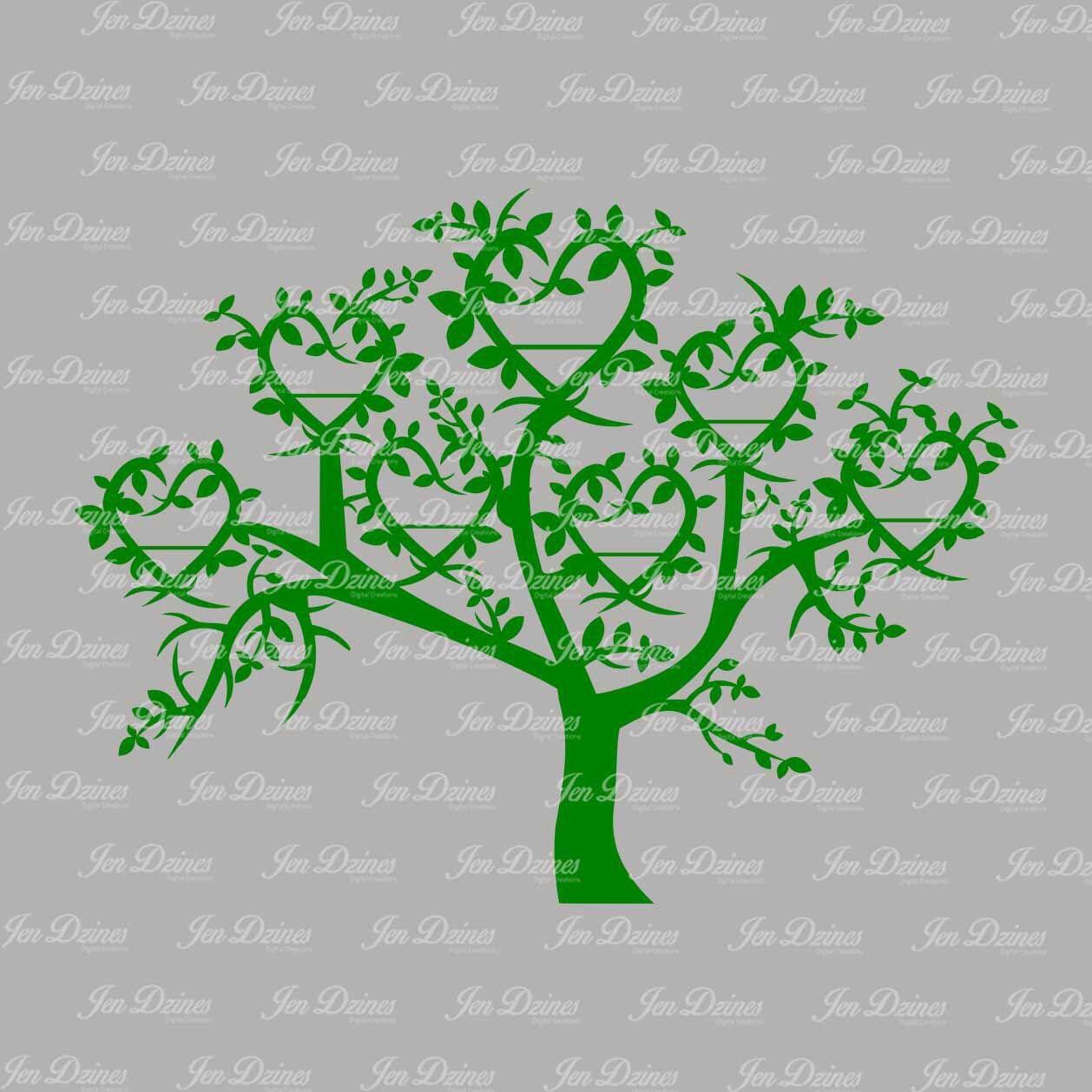 Family Tree SVG DXF EPS, family tree files, family tree