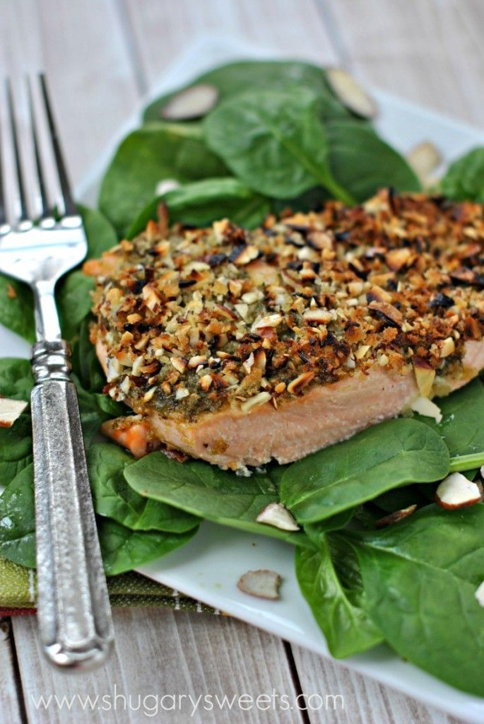 Check out almond pesto salmon it 39 s so easy to make for Pesto fish recipes