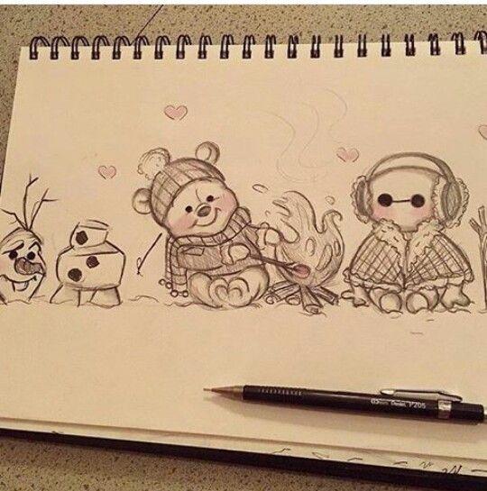 Pin By Zoe Lozowski On Disney Art Cute Disney Drawings Disney