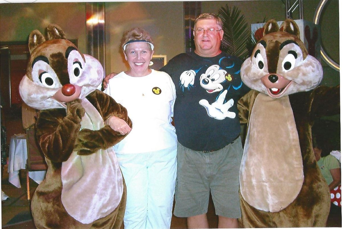 Dale, Donna, Alan and Chip at Disney Vacation Club party, Disney World, FL, July - 2009
