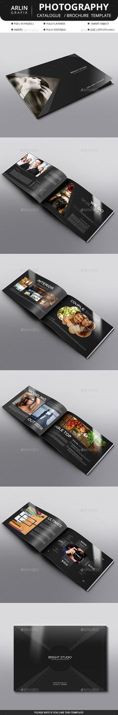 Photography Brochure Template PSD #design Download…