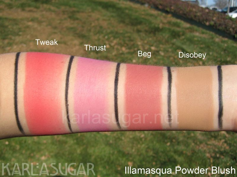 Illamasqua Powder Blush Swatches