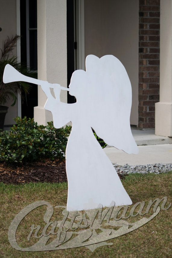 Angel Yard Sign, Wooden Yard Sign, Outdoor Christmas Decoration - outdoor angel christmas decorations
