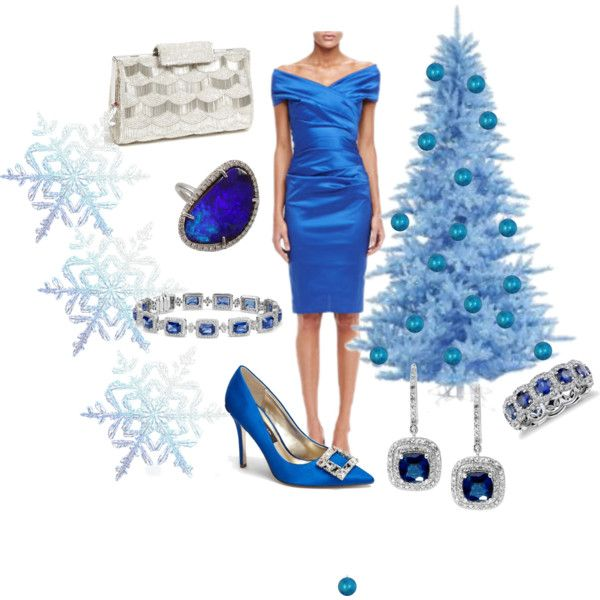 """""""SILVER BLUE SPARKLES"""" by formaldesigns on Polyvore"""