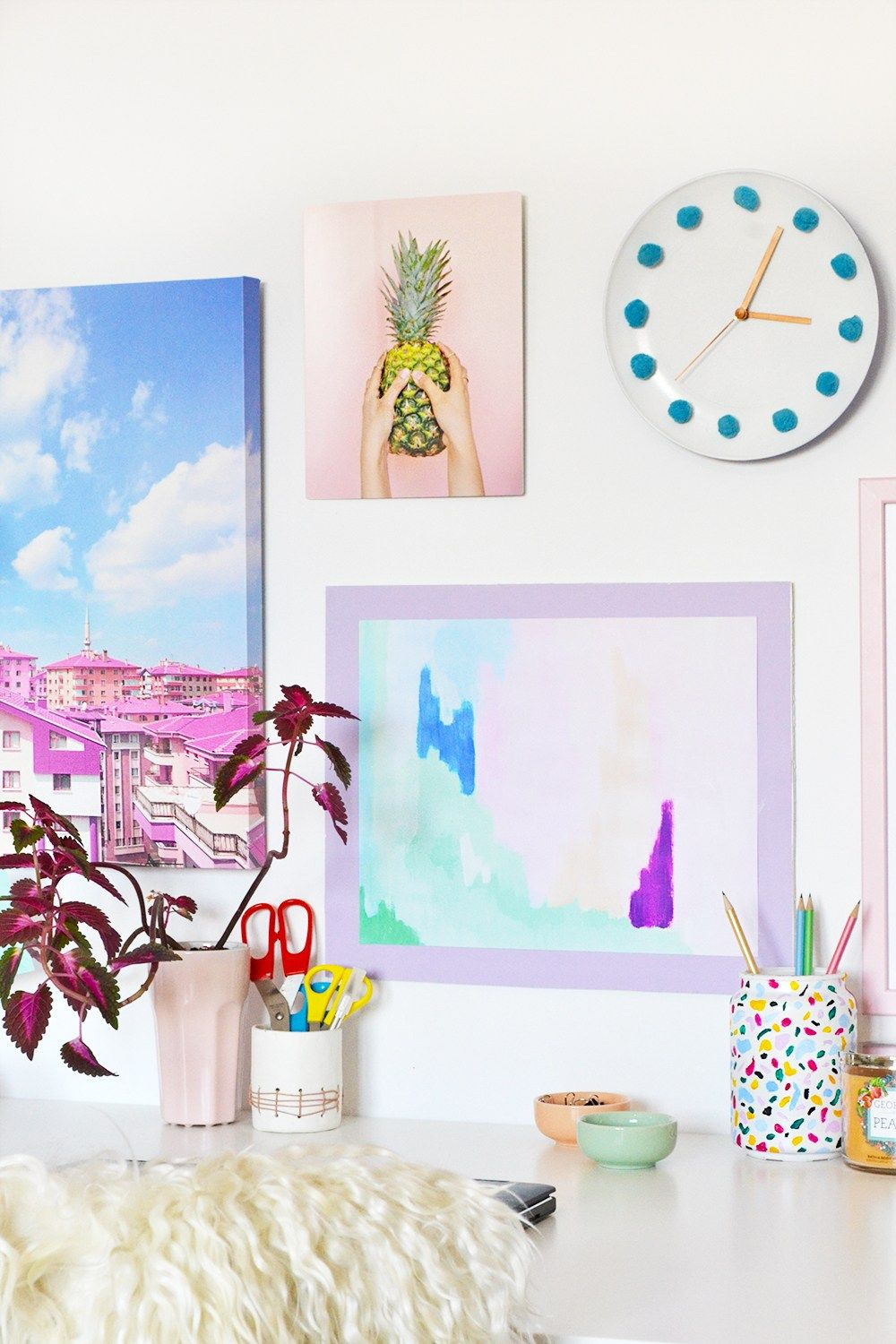 DIY Colorful Poster Frame + Wall Gallery with Mixbook | Awesome DIY ...