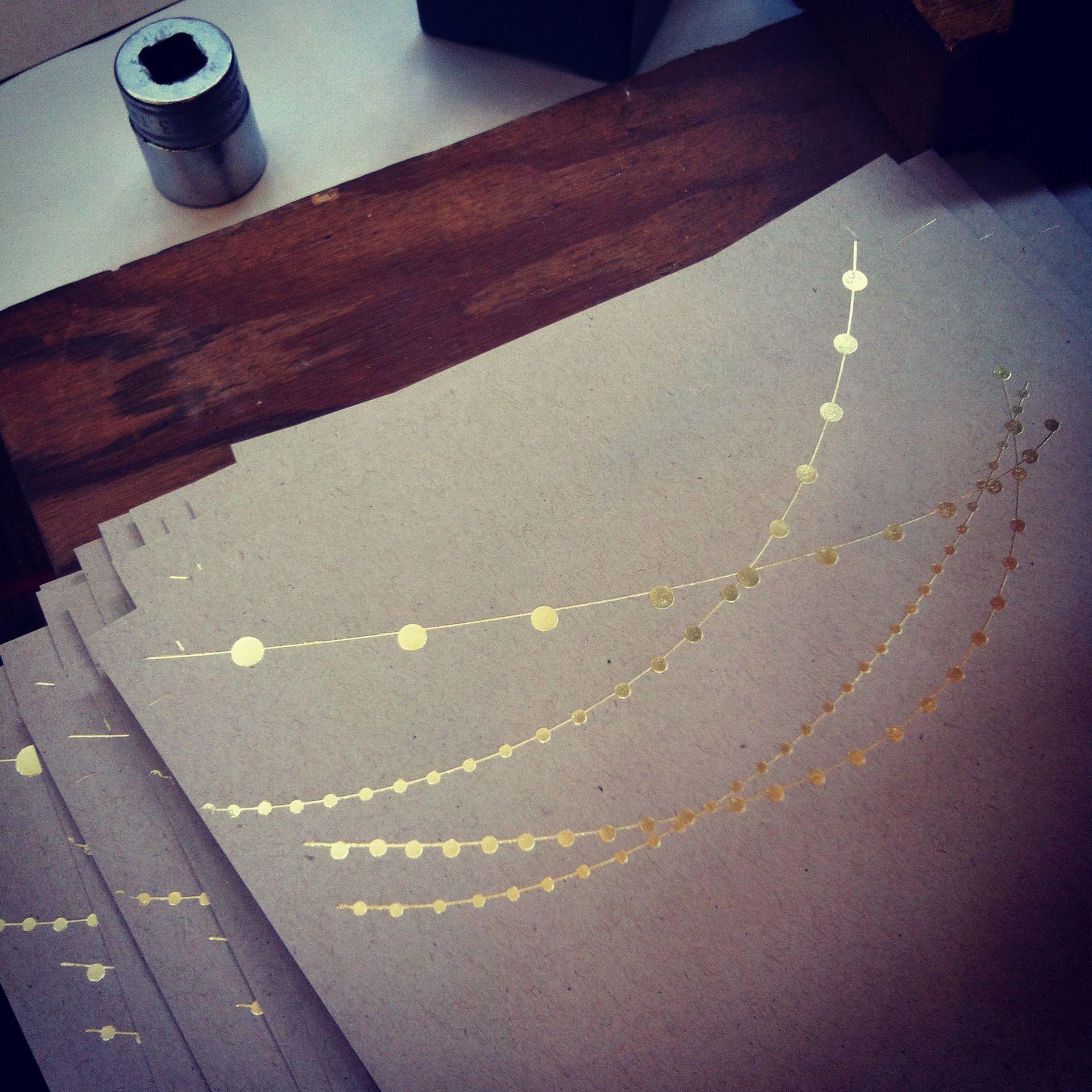 Gold Hot Foil Stamped Letterpress Wedding Invites By Ladyingers Letterpress