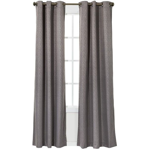 Eclipse Light Blocking Grafton Thermaback Curtain Panel - Smoke (€23) ❤ liked on Polyvore featuring home, home decor, window treatments, curtains, curtain, window, eclipse window panel, light blocking curtains, eclipse window treatments and eclipse window coverings