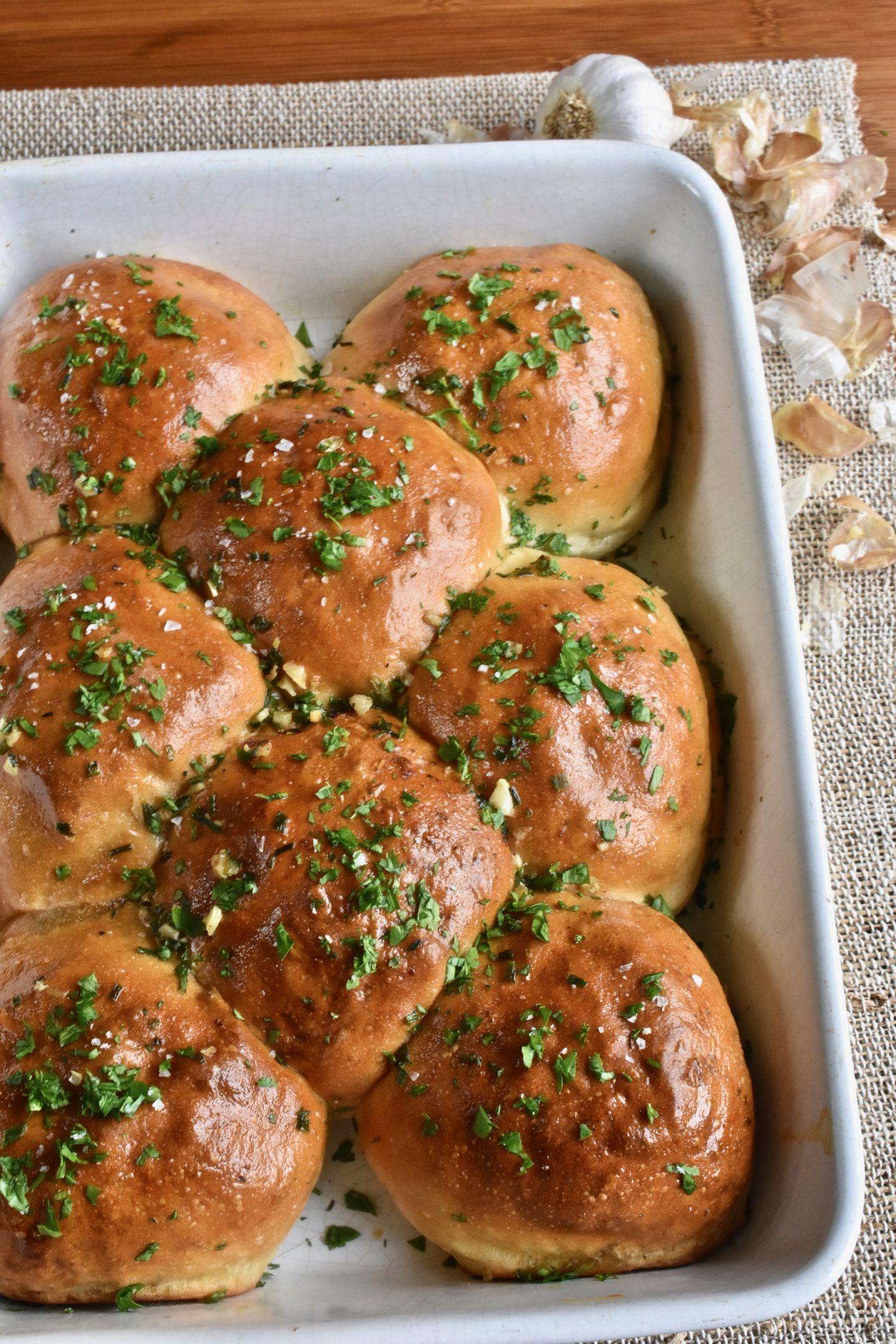 Garlic and Herb Tear 'n' Share Bread Rolls #tearandsharebread