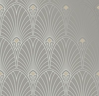 wallpapers by era bradbury art deco designs havana retro wallpaper in pewter for the haus. Black Bedroom Furniture Sets. Home Design Ideas