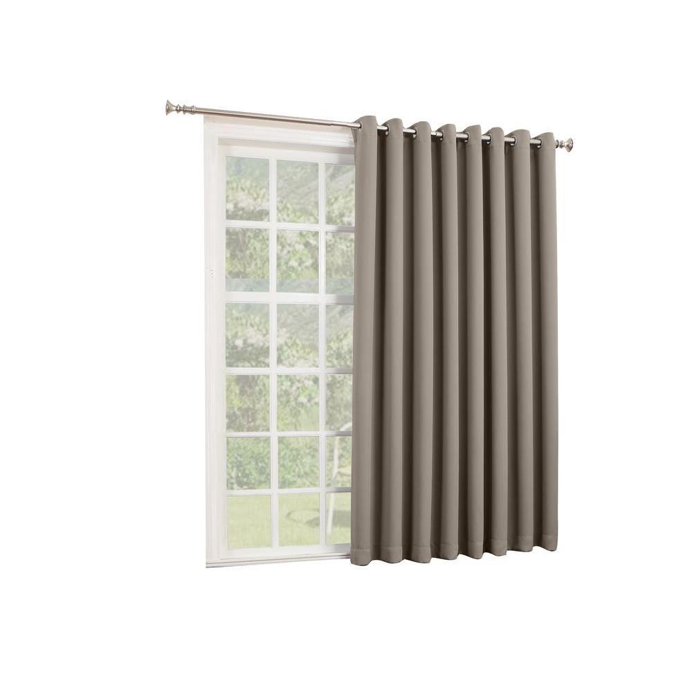 Door window coverings  sun zero gavin  in l extra wide blackout patio panel in