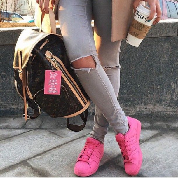 Adidas Superstar With Jeans Pink