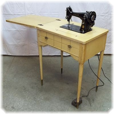 Singer 99k Sewing Machine Cabinet 1957. This Was My Motheru0027s First Machine  And Cabinet.