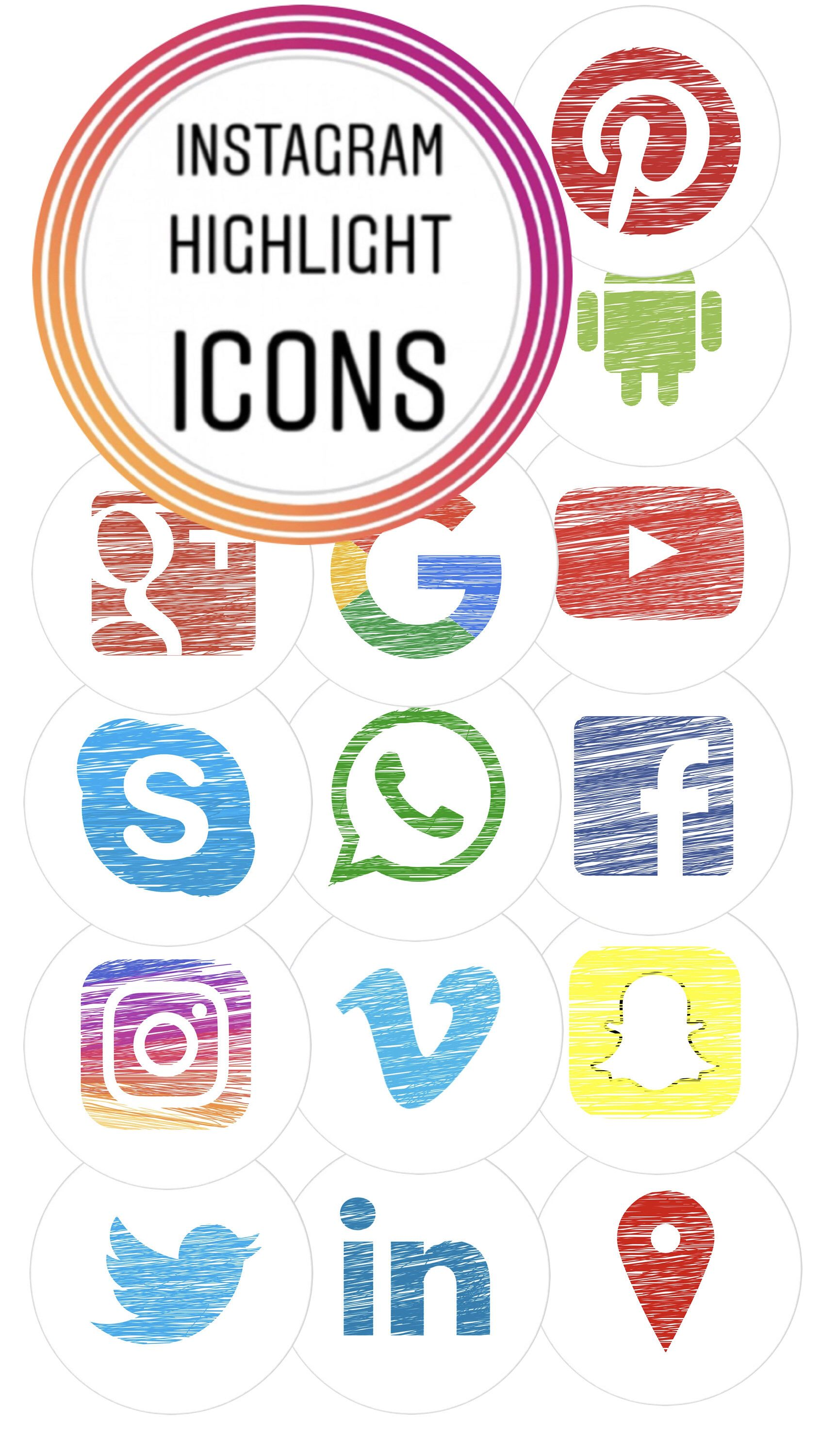 Social Media Cover Icons for Instagram Highlights! by
