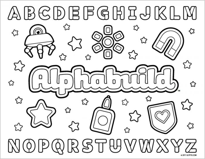 Abc Coloring Pages For Kindergarten Printable Kids