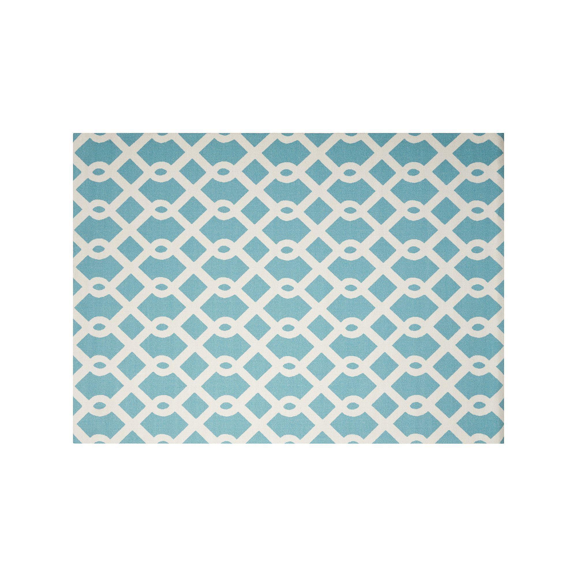 Waverly Sun N Shade Ellis Geometric Indoor Outdoor Rug Blue