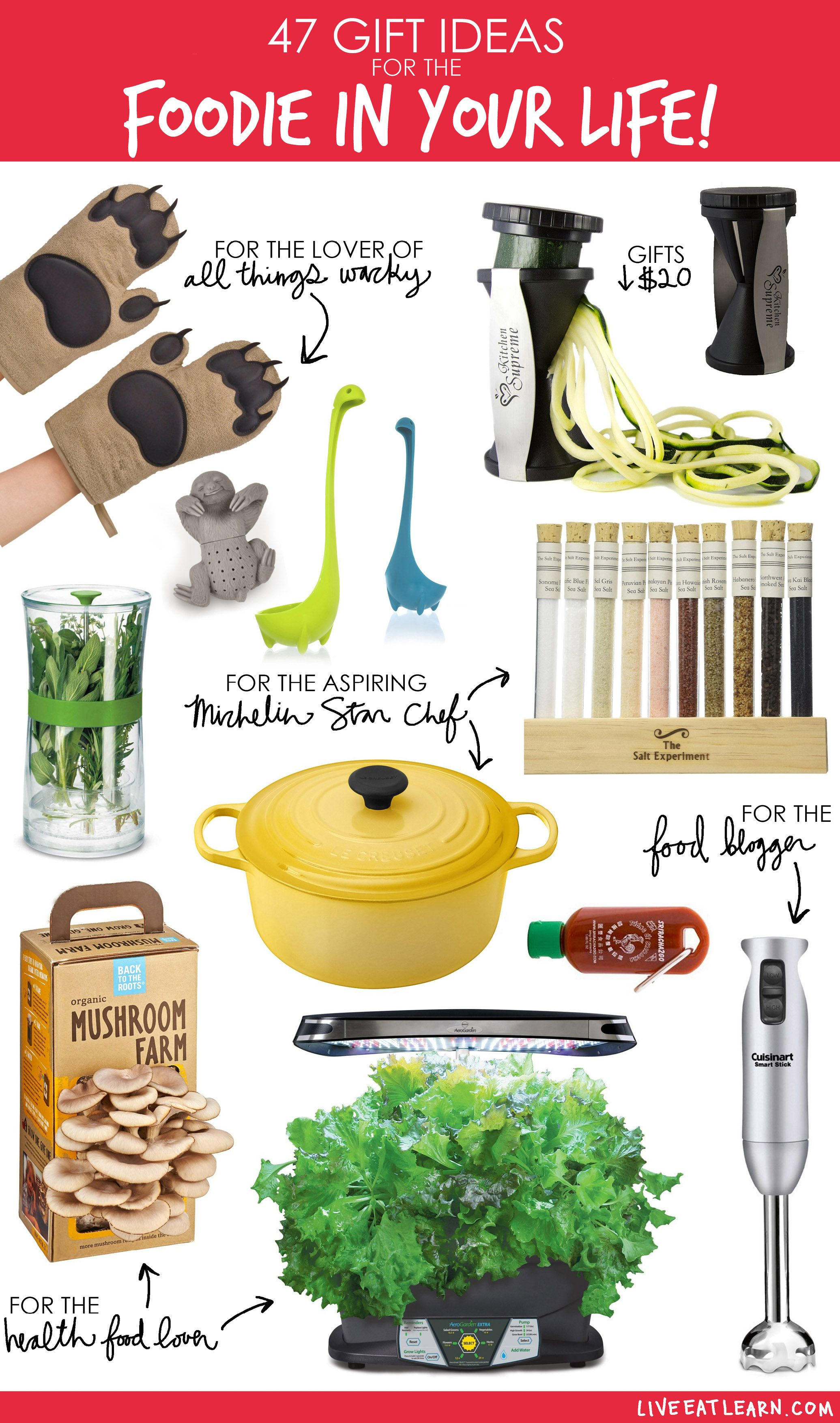 47 gift ideas for the foodie in your life healthy food lovers aspiring chefs food bloggersthis is a holidaychristmas gift guide for every kind of