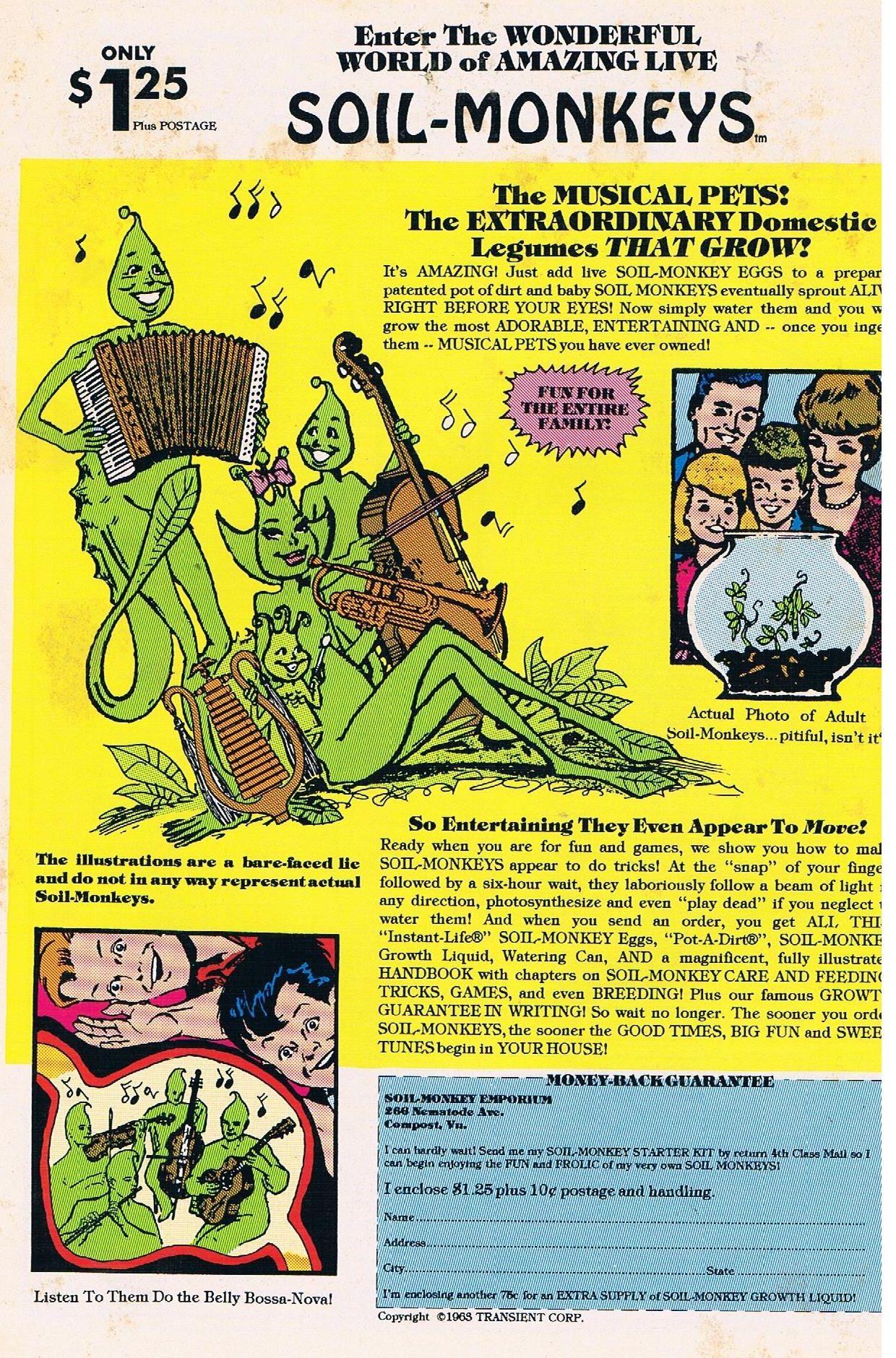 Soil Monkeys 1993 Image Comics Parody Advert From Nostalgic Series 1963 レトロ