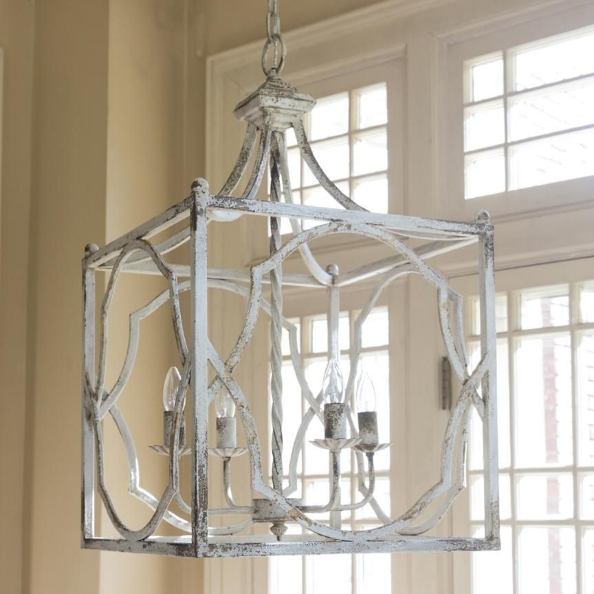 Arlington Pendant Light A Stunning Carriage House Chandelier The By Park Hill Collection Has Distressed White Metal Frame