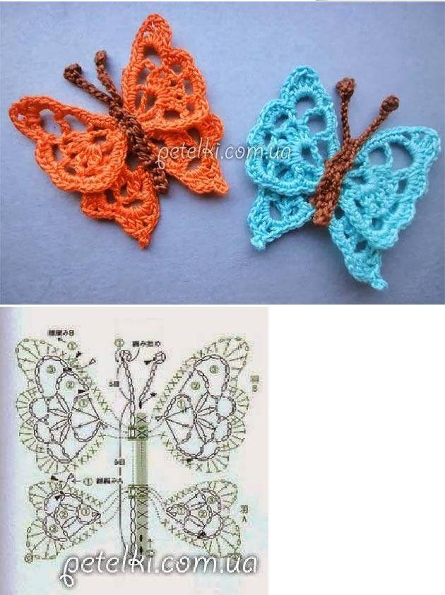 liblikas | Kudumid / ideed teostamiseks | Pinterest | Strick ...