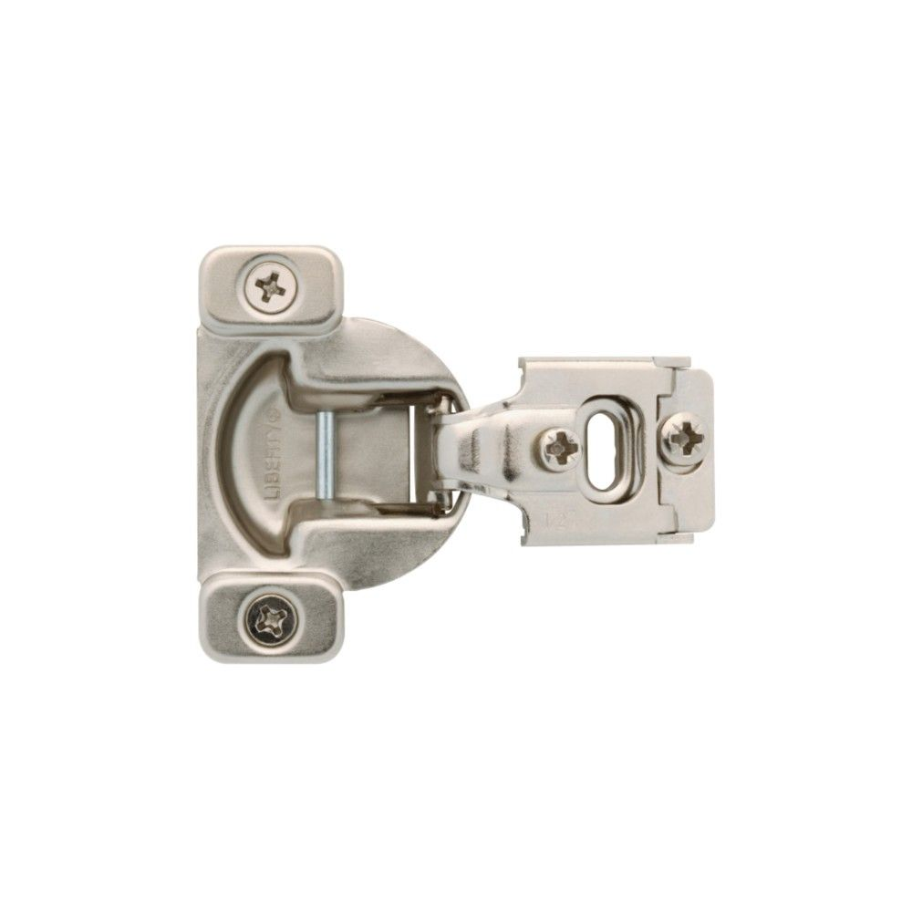 Liberty H70223c C 1 2 Overlay Concealed European Cabinet Door Hinge With 105 Degree Opening Angle Package Of 2 Nickel No Finish Door Hinges Overlay Hinges Cabinet Doors