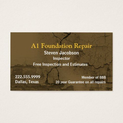 Cracked Concret And Plaster Business Card Zazzle Com Business Card Template Free Business Card Templates Unique Business Cards