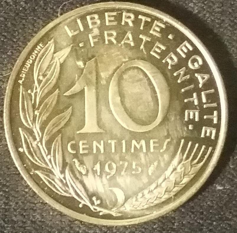 Coin 10 Centimes 1975 Francia Monete Monete Francia E Everything