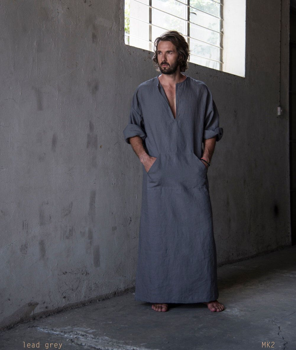 A personal favourite from my Etsy shop https://www.etsy.com/listing/236324978/mens-stylish-100-linen-homewear