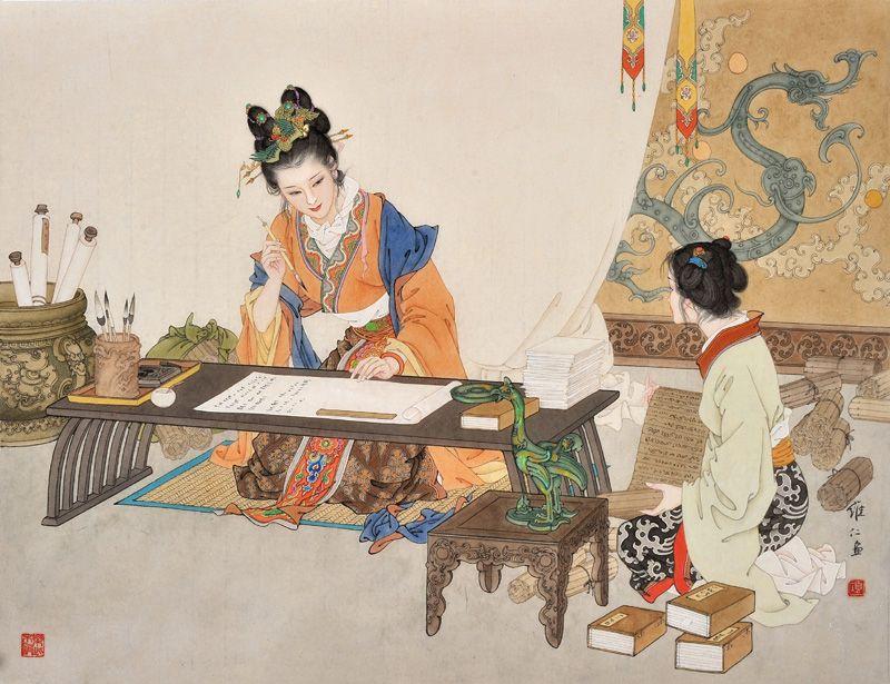 картинки с китайскими изображениями боярского быта