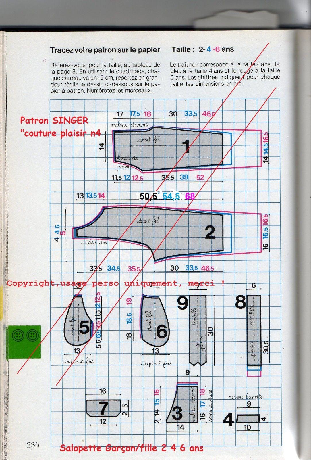 meilleure sélection 21245 62ef0 patron/tuto Salopette Garçon/fille 2-4-6 ans   DIY ...
