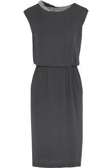 13eb38983d6d71 By Malene Birger Studded chiffon dress