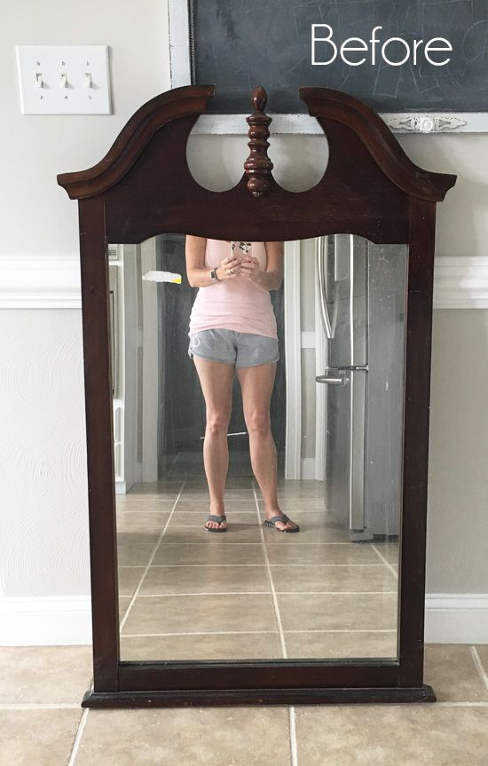 $6 Thrift Store Mirror Makeover (Confessions of a Serial Do-it-Yourselfer) #thriftstorefinds