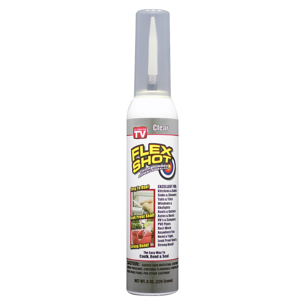As Seen On Tv Flex Shot Sealant Clear 8oz In 2020 Rubber Sealant Rubber Adhesive Sealant