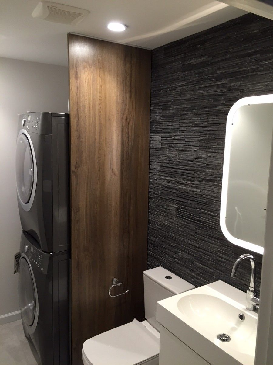 Bathroom/Laundry Room Divider | IKEA Hackers More