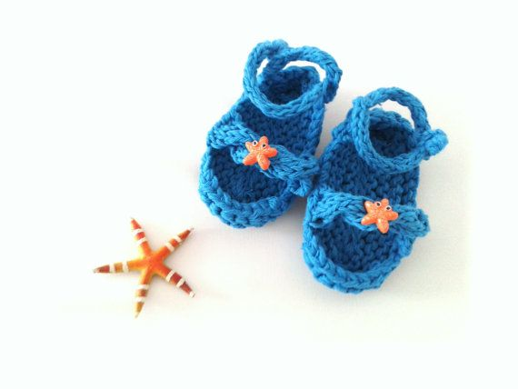 Instant Download Knitting Pattern For Baby Starfish Sandals Pdf