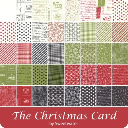 Moda Christmas Fabric 2020 The Christmas Card Charm Pack | Sweetwater for Moda Fabrics in