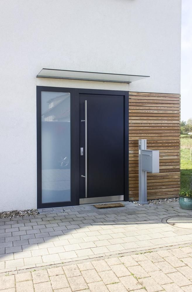 Fenster Haustür Nebeneingangstür Garagentür Wohnungstür AS07L Alu in Heimwerker, Fenster, Türen & Treppen, Türen   eBay!