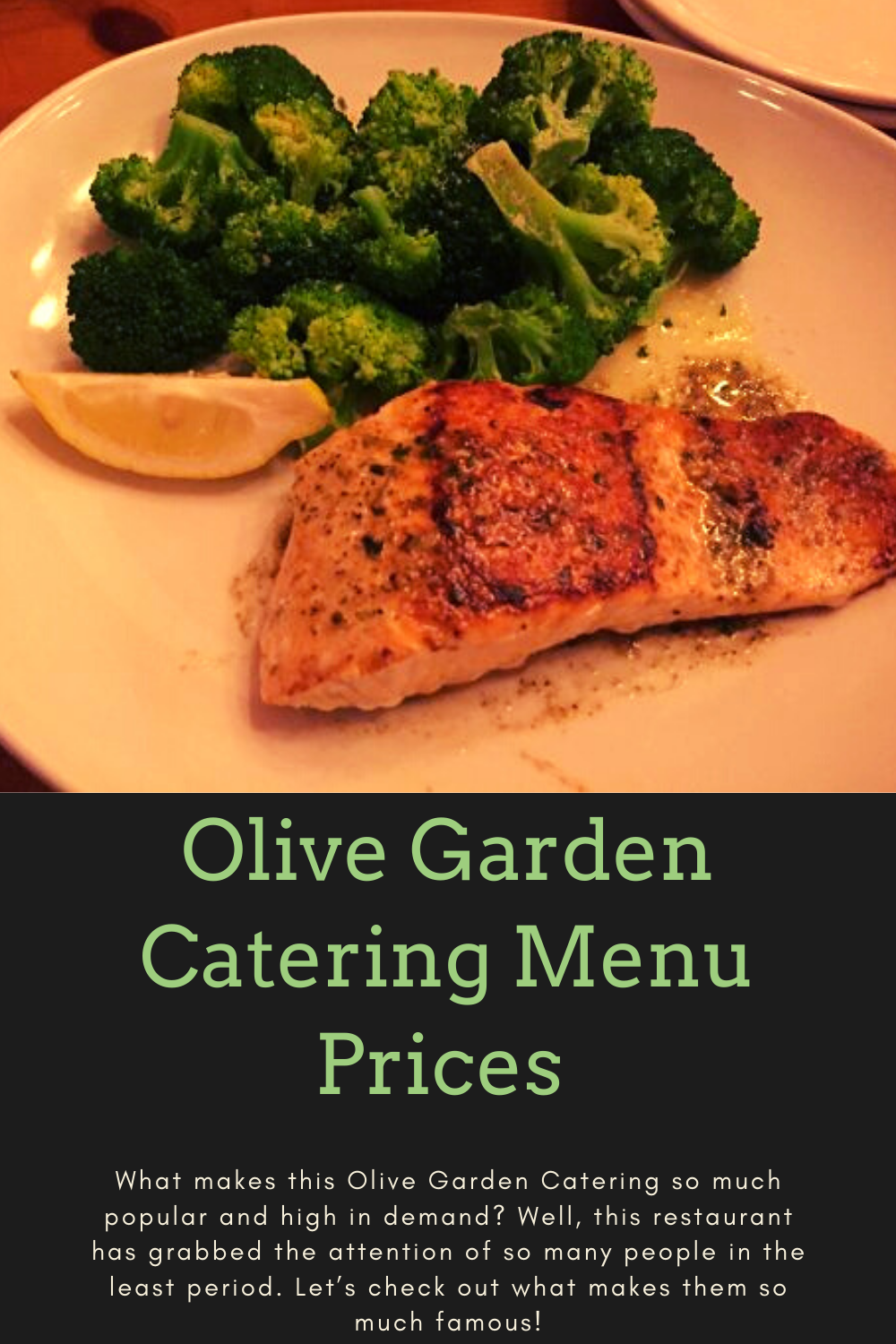 Olive Garden Catering Menu Prices & Reviews in 2020