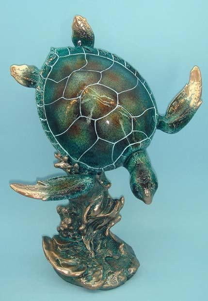 Big Sky Carvers Handcast RETIRED Wise Ones Sea Turtle Sculpture Pierce NIB