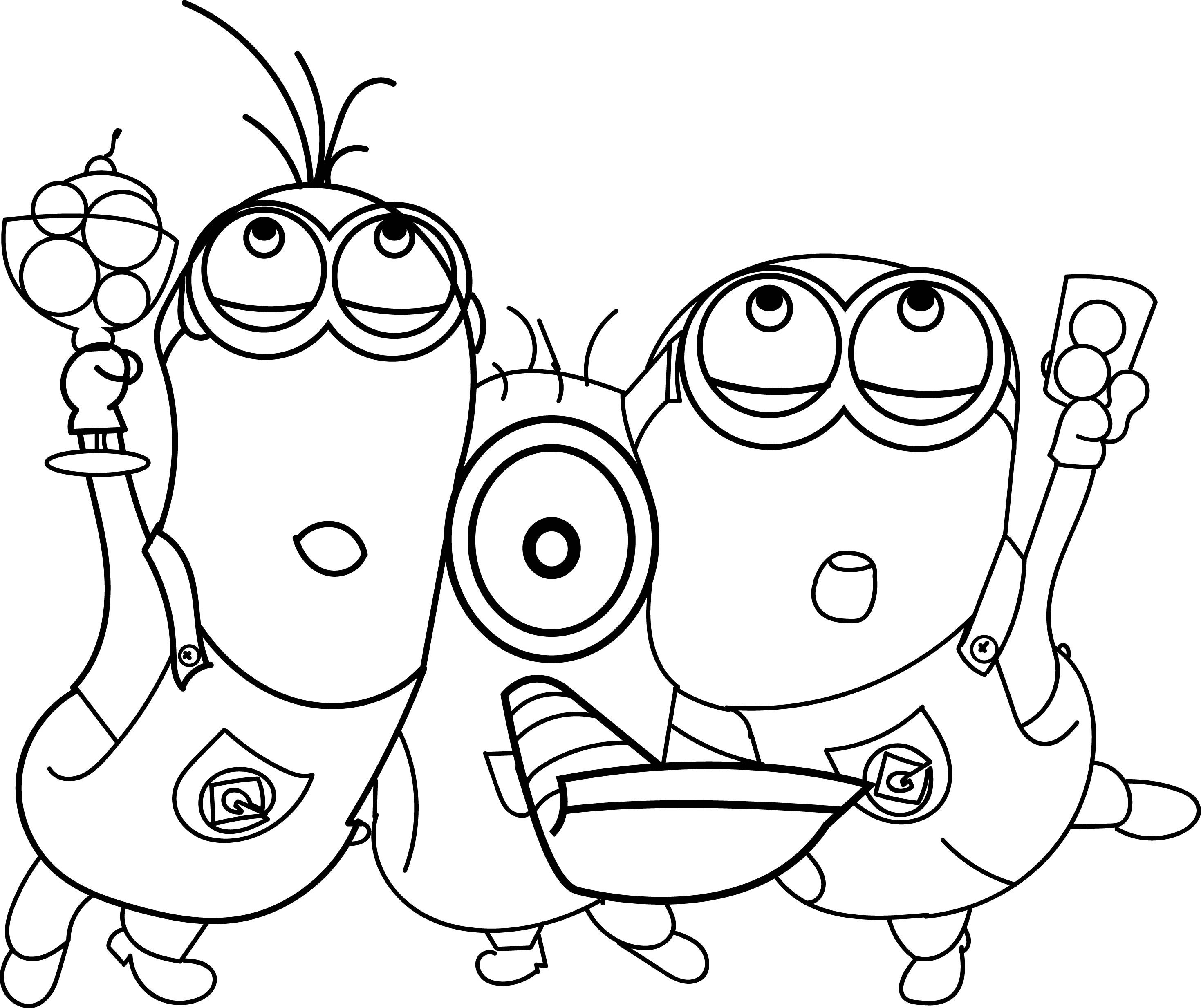 minions celebration coloring page minion coloring