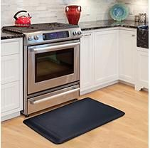 Comforzen Anti Fatigue Comfort Memory Foam Chefs Mat Black