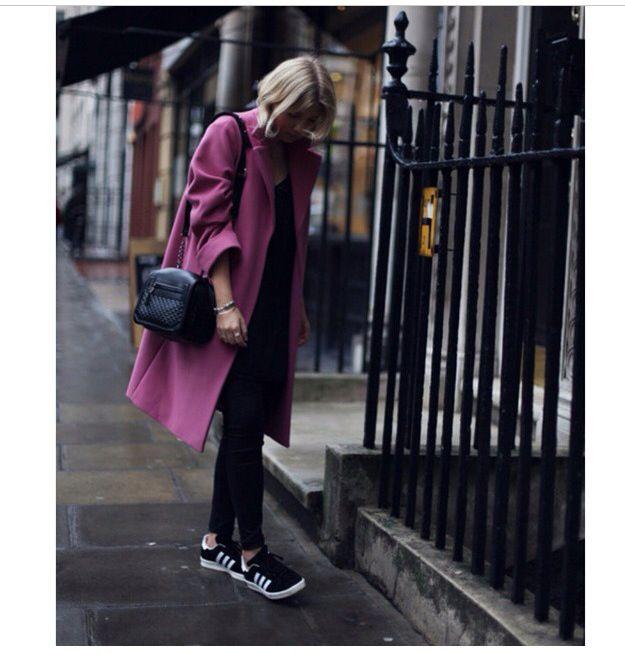 #coat#pink#sneakers