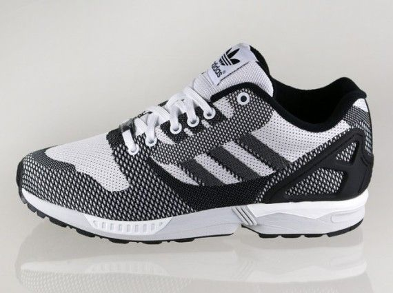 ddd0e12c6b7789  adidas Originals ZX Flux 8000 - Weave Black White Grey  sneakers