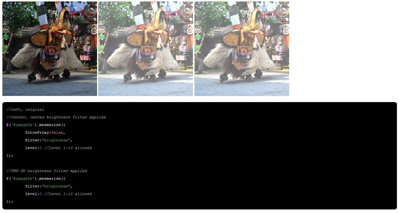 Mesmerize jQuery Image FX Plugin Html5 canvas, Original