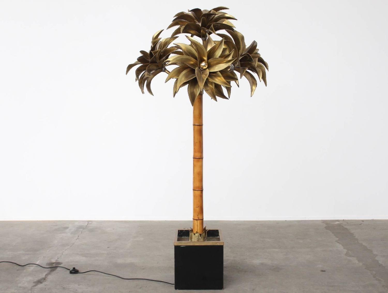 Large Maison Jansen Palm Tree Floor Lamp Tree Floor Lamp Floor Lamp Lamp