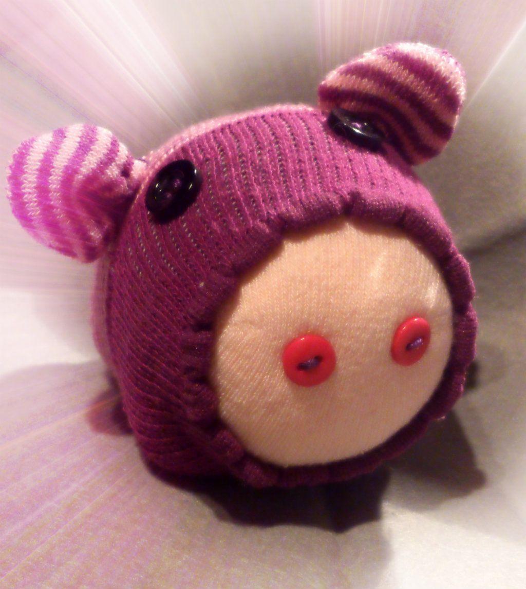 Szontyika, the pig (sock animal) #byCicasi