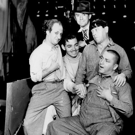 The Three Stooges with Clark Gable | The three stooges, Classic hollywood,  Movie stars